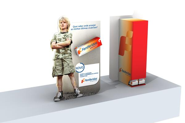 Expositor Feniferidas | Novartis Consumer Health
