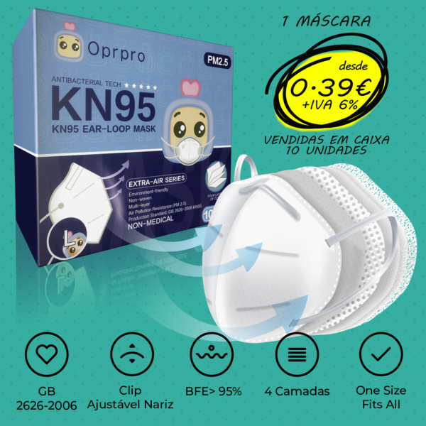 MÁSCARA KN95 Pack 10